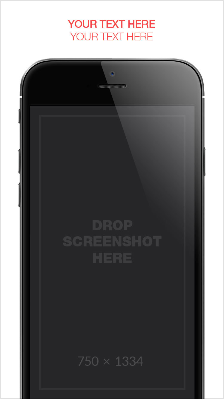 App Store Screenshots Template – Blank