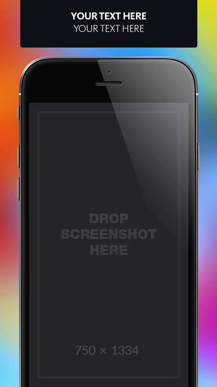 App Store Screenshots Template – Blurry