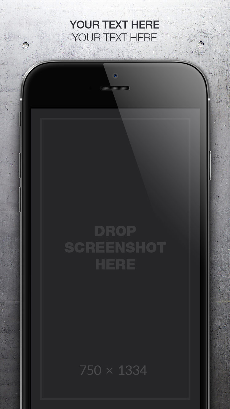 App Store Screenshots Template – Concrete