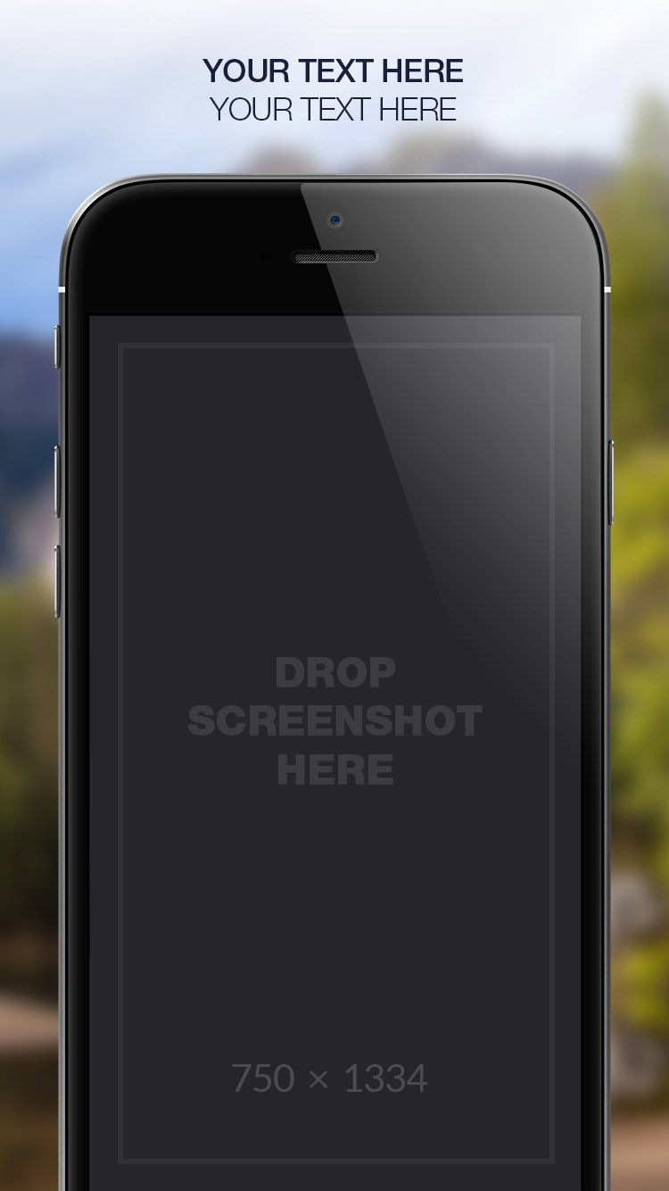 App Store Screenshots Template – Environment