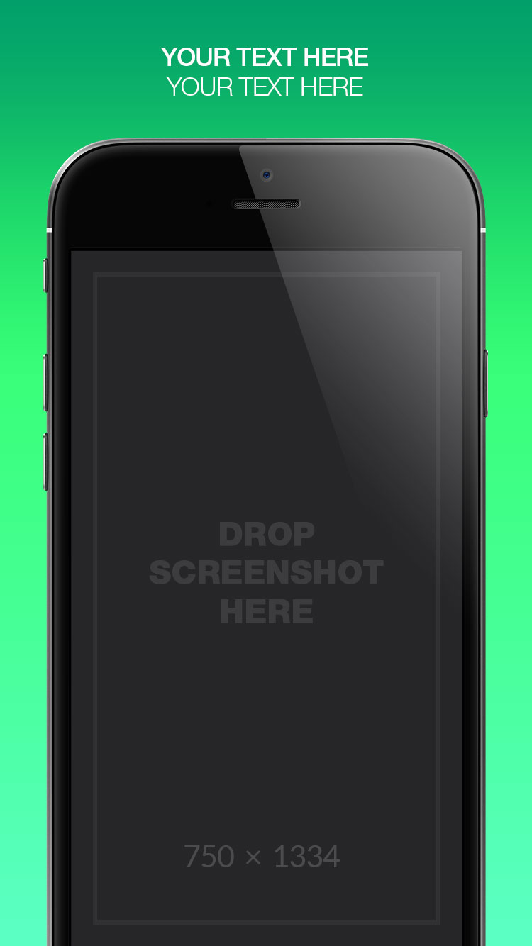 App Store Screenshots Template – Gradients
