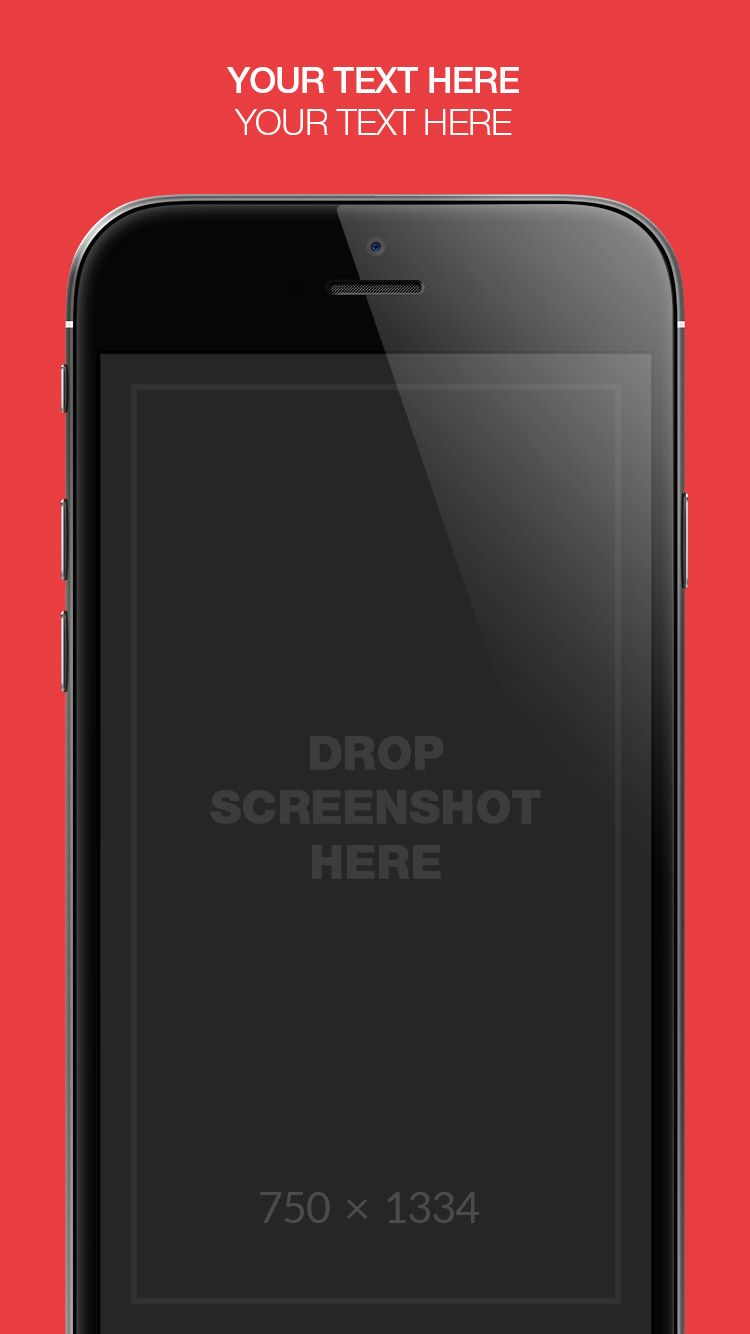 App Store Screenshots Template – Solid Colors